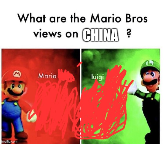 nice title |  CHINA | image tagged in mario bros views,funny,dank,dank meme,funny meme | made w/ Imgflip meme maker