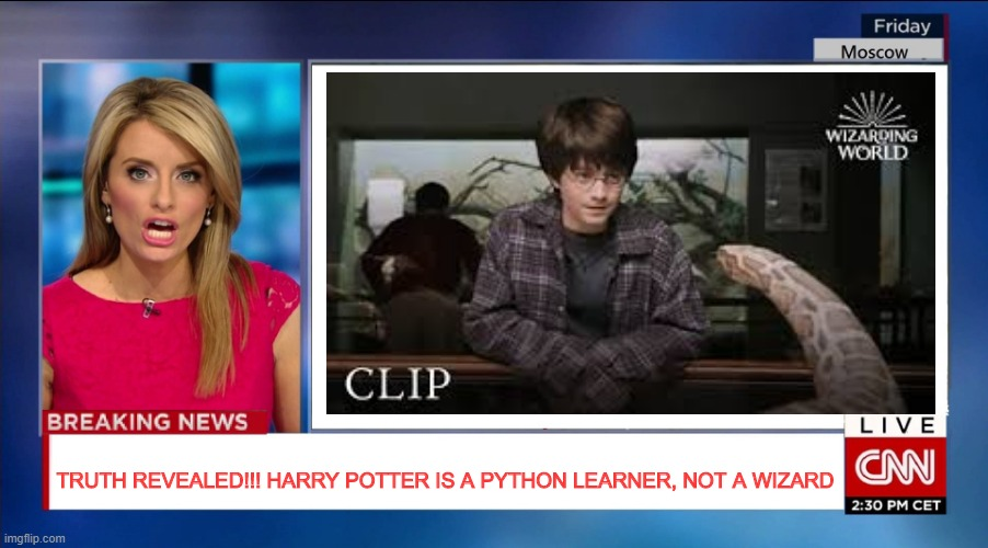 The Truth!!?? |  TRUTH REVEALED!!! HARRY POTTER IS A PYTHON LEARNER, NOT A WIZARD | image tagged in programming,python,harry potter | made w/ Imgflip meme maker
