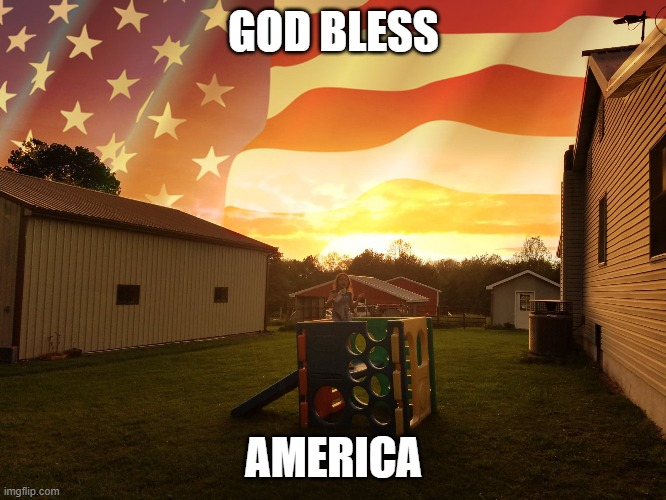 my vision |  GOD BLESS; AMERICA | image tagged in god bless america,beautiful,usa,patriotic | made w/ Imgflip meme maker