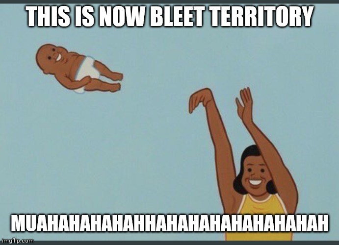 I mean the image is XD |  THIS IS NOW BLEET TERRITORY; MUAHAHAHAHAHHAHAHAHAHAHAHAHAH | image tagged in baby yeet | made w/ Imgflip meme maker