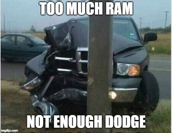 There are easier ways to downvote a post. |  . | image tagged in dodge,pickup,funny car crash,downvote | made w/ Imgflip meme maker