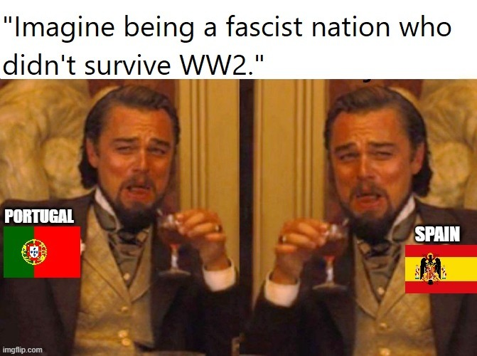 I live in Spain but the opposition is silent | image tagged in spain,portugal,fascism,world war 2,world war ii,but thats none of my business neutral | made w/ Imgflip meme maker