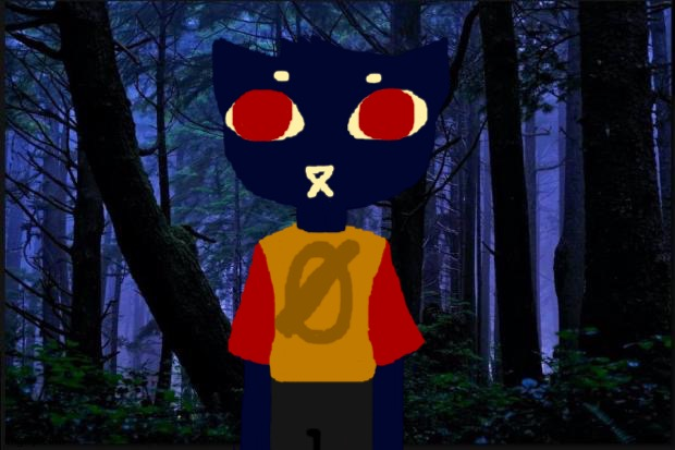 I drew Mae from night in the woods! | image tagged in dark forest | made w/ Imgflip meme maker
