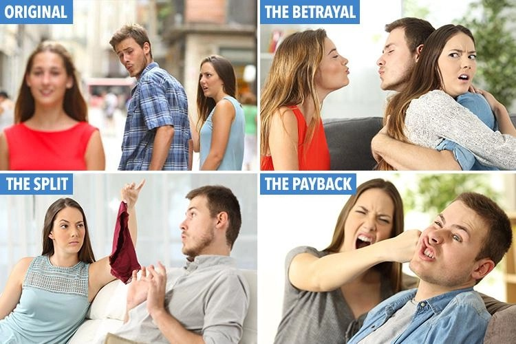 Distracted Boyfriend after story Blank Template - Imgflip