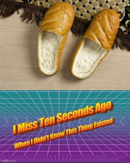 bread loafers | image tagged in i miss ten seconds ago,bread,shoes,funny,dank memes,front page | made w/ Imgflip meme maker