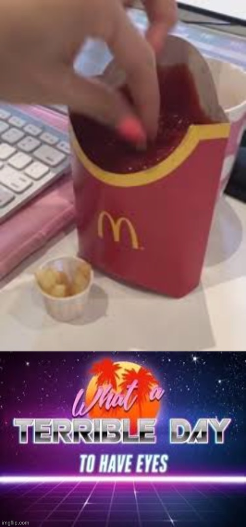 Blursed McDonalds | image tagged in mcdonalds,what a terrible day to have eyes,blursed | made w/ Imgflip meme maker