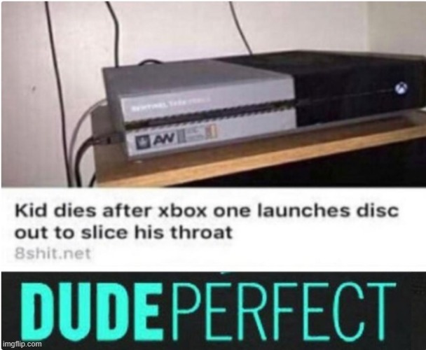 LOL! | image tagged in fun,dude perfect,xbox one | made w/ Imgflip meme maker