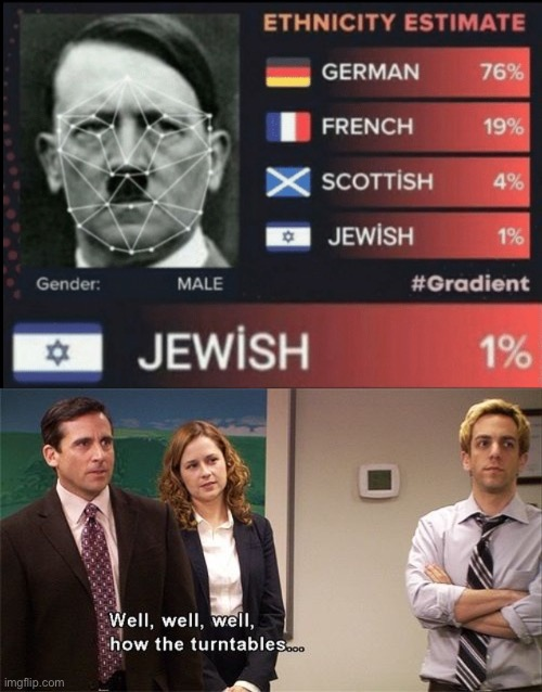 Jewish 1% | image tagged in well well well how the turn tables,jews,hitler,funny,memes,funny memes | made w/ Imgflip meme maker