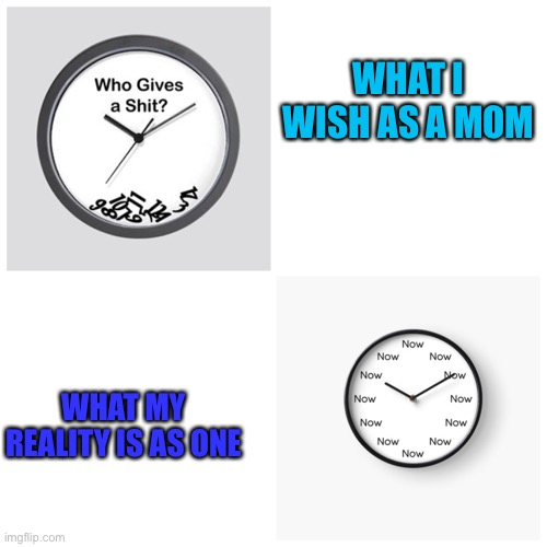 In my head... |  WHAT I WISH AS A MOM; WHAT MY REALITY IS AS ONE | image tagged in aint got no time fo dat,now,mommy,parenting,kids these days | made w/ Imgflip meme maker