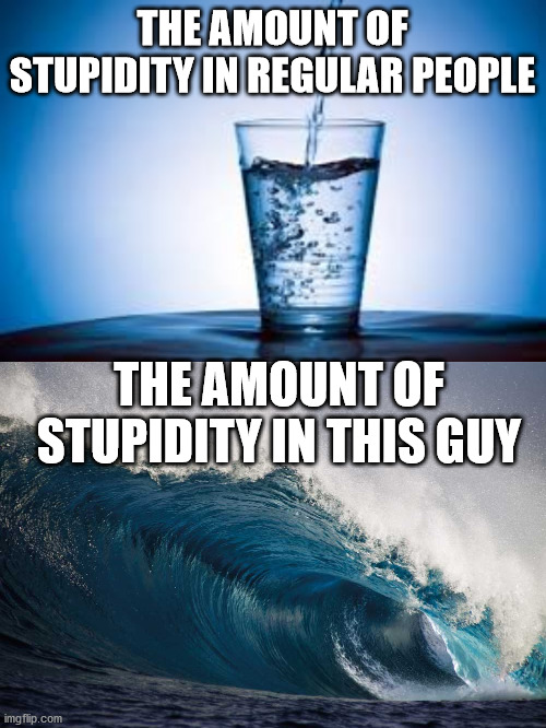 THE AMOUNT OF STUPIDITY IN REGULAR PEOPLE THE AMOUNT OF STUPIDITY IN THIS GUY | made w/ Imgflip meme maker