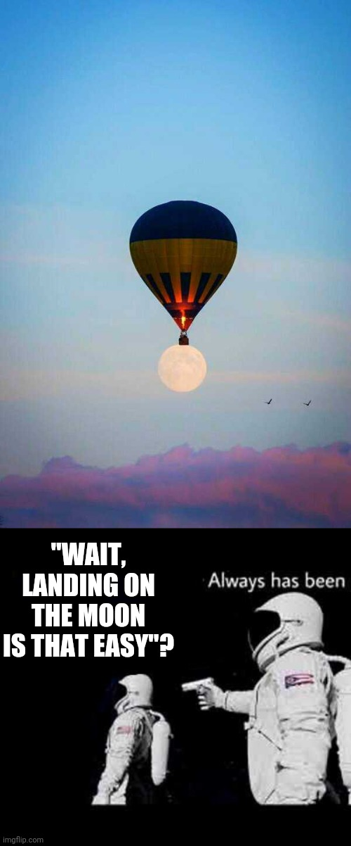 "IF ONLY IT WAS THAT EASY |  ""WAIT, LANDING ON THE MOON IS THAT EASY""? 