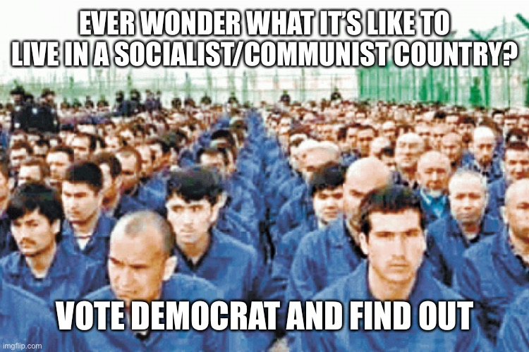 Living in a one thought society is great if you have no thoughts |  EVER WONDER WHAT IT'S LIKE TO LIVE IN A SOCIALIST/COMMUNIST COUNTRY? VOTE DEMOCRAT AND FIND OUT | image tagged in communist socialist,china,democrats,soviet union,woke,sjws | made w/ Imgflip meme maker