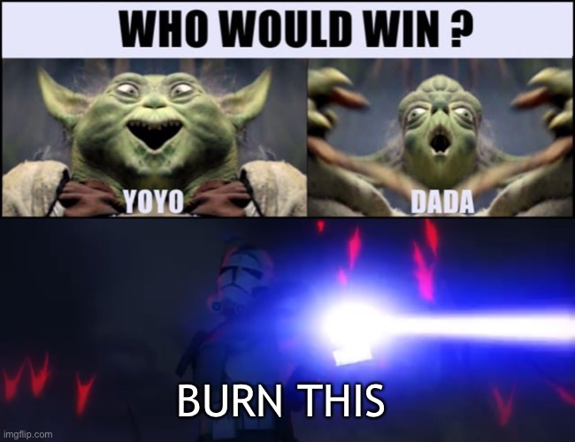 Burn this |  BURN THIS | image tagged in yoda | made w/ Imgflip meme maker