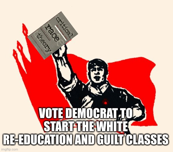 Re-education is a critical part of the communist cultural revolution |  VOTE DEMOCRAT TO START THE WHITE RE-EDUCATION AND GUILT CLASSES | image tagged in special education,communism,democrats,sjws,woke,traitor | made w/ Imgflip meme maker