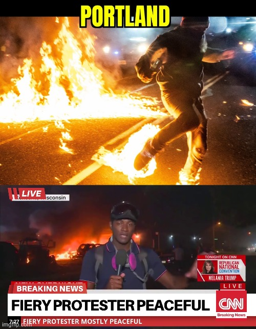 THE PORTLAND SHUFFLE | image tagged in portland,protesters,fire,malatov cocktail | made w/ Imgflip meme maker