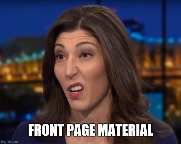 Lisa Page | FRONT PAGE MATERIAL | image tagged in lisa page | made w/ Imgflip meme maker