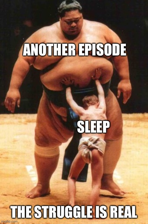 Struggle is real | ANOTHER EPISODE THE STRUGGLE IS REAL SLEEP | image tagged in struggle is real | made w/ Imgflip meme maker