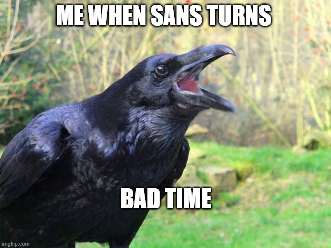 ME WHEN SANS TURNS; BAD TIME | image tagged in thelegion | made w/ Imgflip meme maker