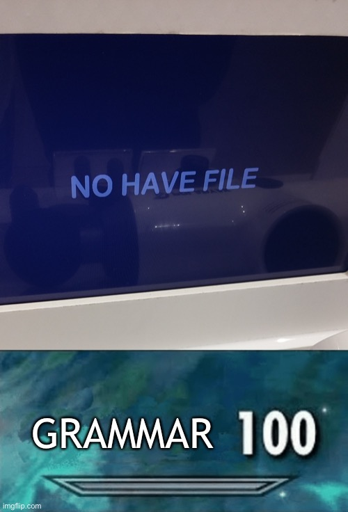 saw this at a store today |  GRAMMAR | image tagged in skyrim skill meme,grammar,memes,engrish | made w/ Imgflip meme maker