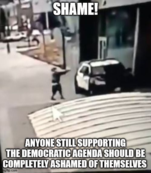Enought!  Murdering police is not protesting. |  SHAME! ANYONE STILL SUPPORTING THE DEMOCRATIC AGENDA SHOULD BE COMPLETELY ASHAMED OF THEMSELVES | image tagged in blm,antifa,riots,election 2020 | made w/ Imgflip meme maker