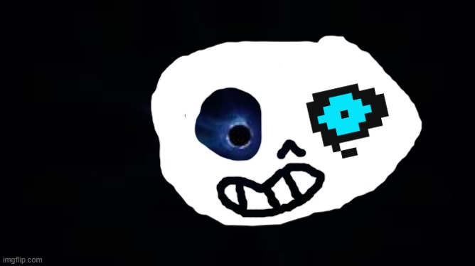 sans | image tagged in fortnite black hole | made w/ Imgflip meme maker