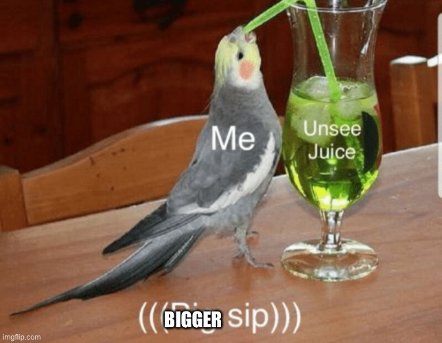 Unsee juice | BIGGER | image tagged in unsee juice | made w/ Imgflip meme maker