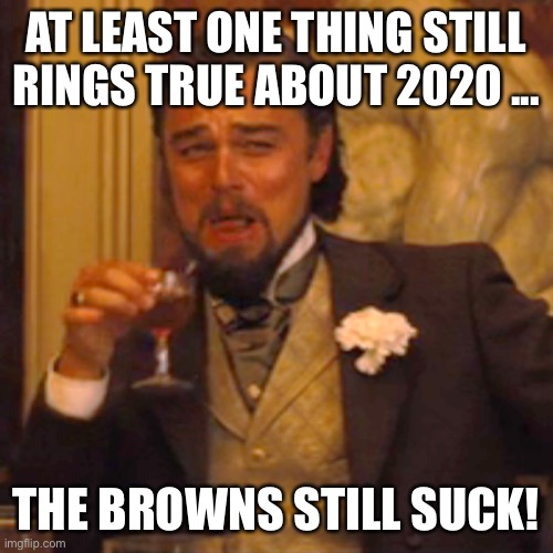 Laughing Leo |  AT LEAST ONE THING STILL RINGS TRUE ABOUT 2020 ... THE BROWNS STILL SUCK! | image tagged in laughing leo | made w/ Imgflip meme maker
