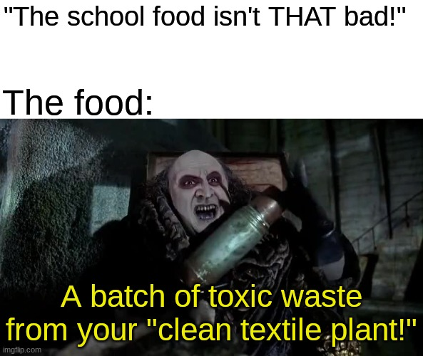 """There's a whole LAGOON of this crud in the back!"" 