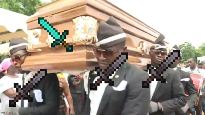 RIP DIAMOND | image tagged in coffin dance | made w/ Imgflip meme maker