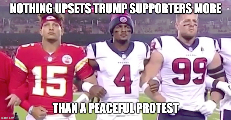 A peaceful protest means MAGAs can't bring out their guns. |  NOTHING UPSETS TRUMP SUPPORTERS MORE; THAN A PEACEFUL PROTEST | image tagged in magas are hypocrites,violent protest bad,peaceful protest bad,control,division | made w/ Imgflip meme maker