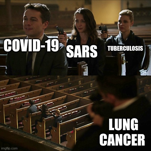 tactical moves |  TUBERCULOSIS; SARS; COVID-19; LUNG CANCER | image tagged in assassination chain,memes,coronavirus,disease | made w/ Imgflip meme maker