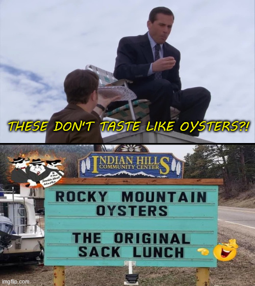 The Office Oysters |  THESE DON'T TASTE LIKE OYSTERS?! | image tagged in the office | made w/ Imgflip meme maker