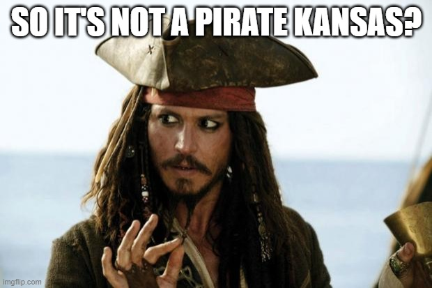 Jack Sparrow Pirate | SO IT'S NOT A PIRATE KANSAS? | image tagged in jack sparrow pirate | made w/ Imgflip meme maker