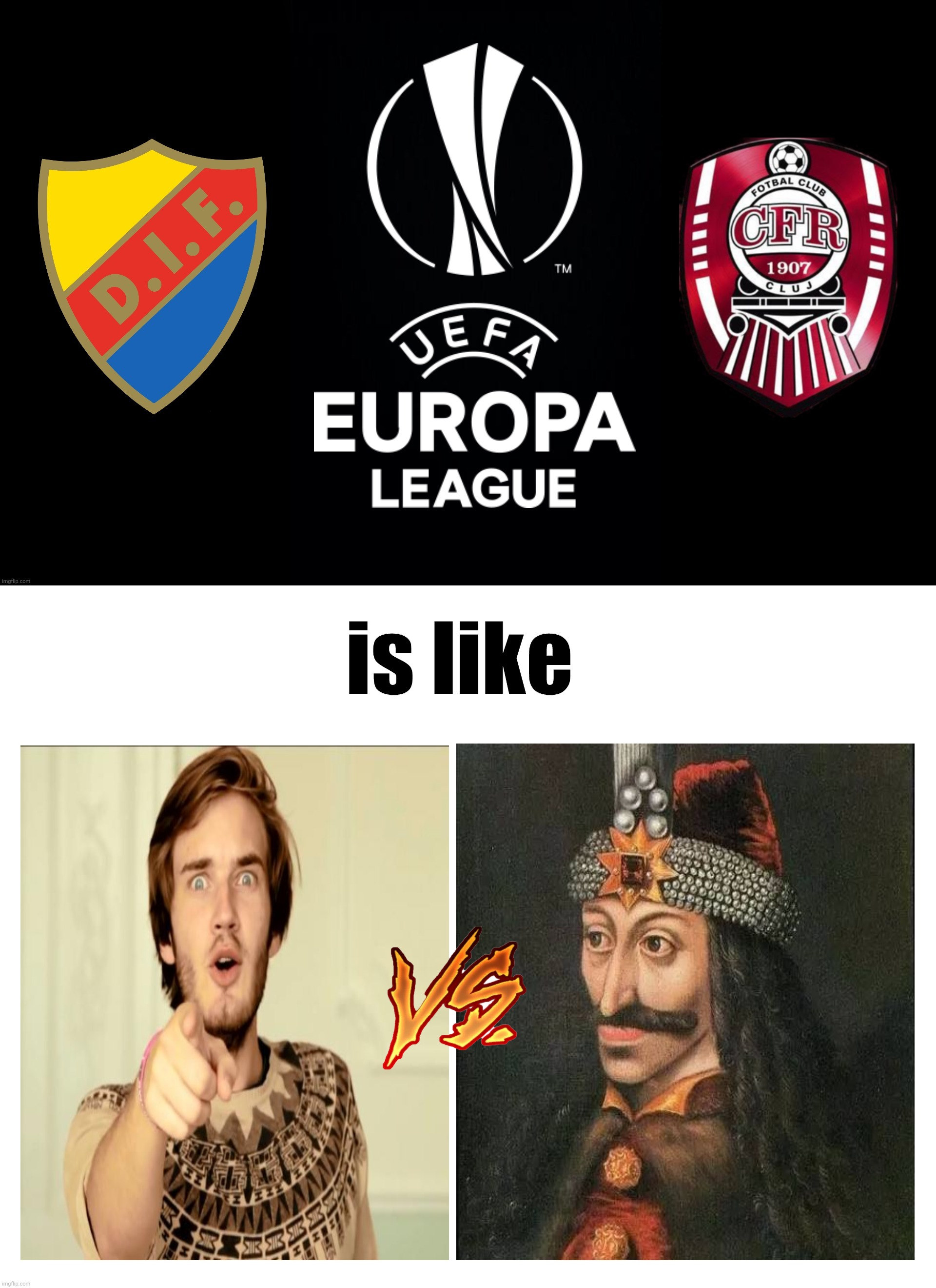 Djurgarden vs CLUJ: the Movie - Coming 24 September... |  is like | image tagged in memes,futbol,europa league,pewdiepie,vlad,cfr cluj | made w/ Imgflip meme maker
