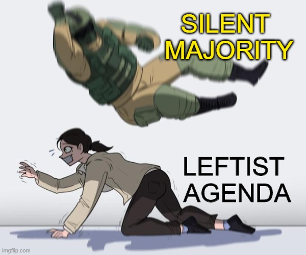 The HUGE wakeup call for Leftist weenies this November. |  SILENT  MAJORITY; LEFTIST  AGENDA | image tagged in election 2020,trump,gop | made w/ Imgflip meme maker