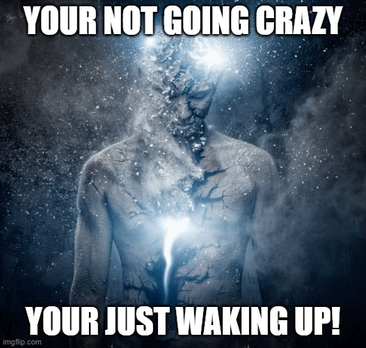 YOUR NOT GOING CRAZY; YOUR JUST WAKING UP! | image tagged in spirituality | made w/ Imgflip meme maker
