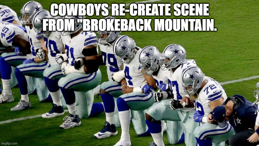 "Dallasw Cowboys |  COWBOYS RE-CREATE SCENE FROM ""BROKEBACK MOUNTAIN. 