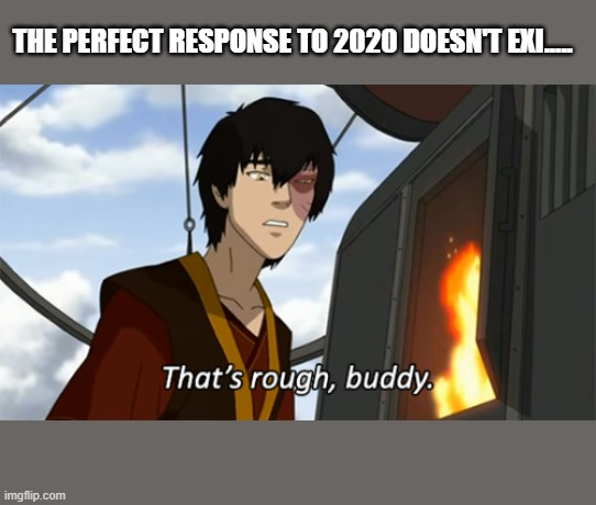 zuko thats rough buddy |  THE PERFECT RESPONSE TO 2020 DOESN'T EXI..... | image tagged in zuko thats rough buddy,2020,2020 sucks,zuko,avatar the last airbender | made w/ Imgflip meme maker