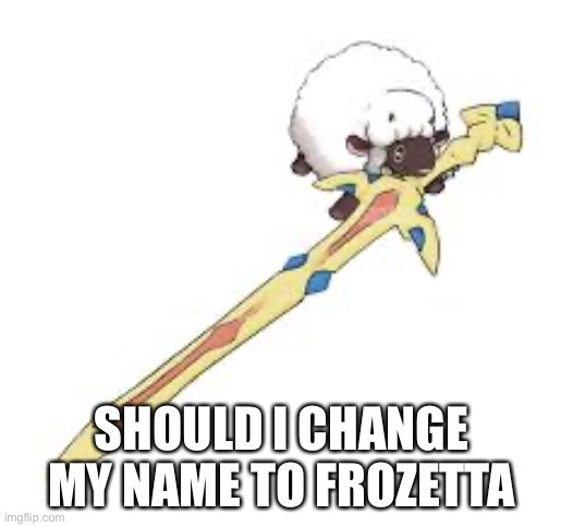 SHOULD I CHANGE MY NAME TO FROZETTA | made w/ Imgflip meme maker