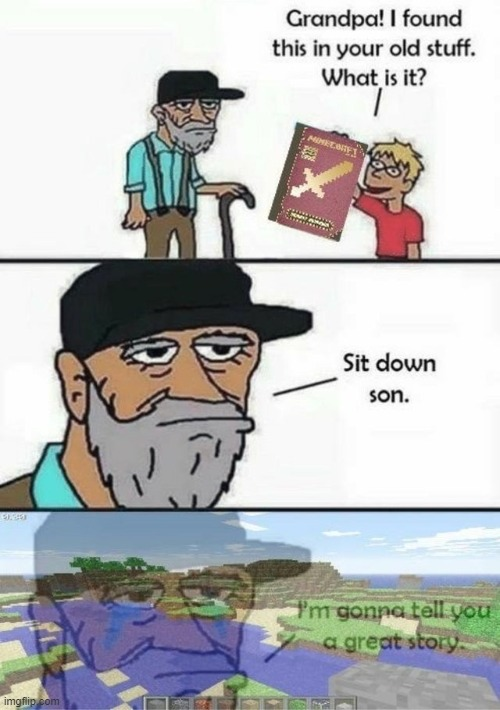 ah i remember | image tagged in minecraft,the good old days,back in my day | made w/ Imgflip meme maker