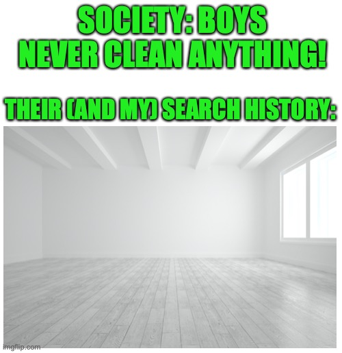 Hmmmmm wonder why |  SOCIETY: BOYS NEVER CLEAN ANYTHING! THEIR (AND MY) SEARCH HISTORY: | image tagged in boys,google search,clean,truth,memes | made w/ Imgflip meme maker