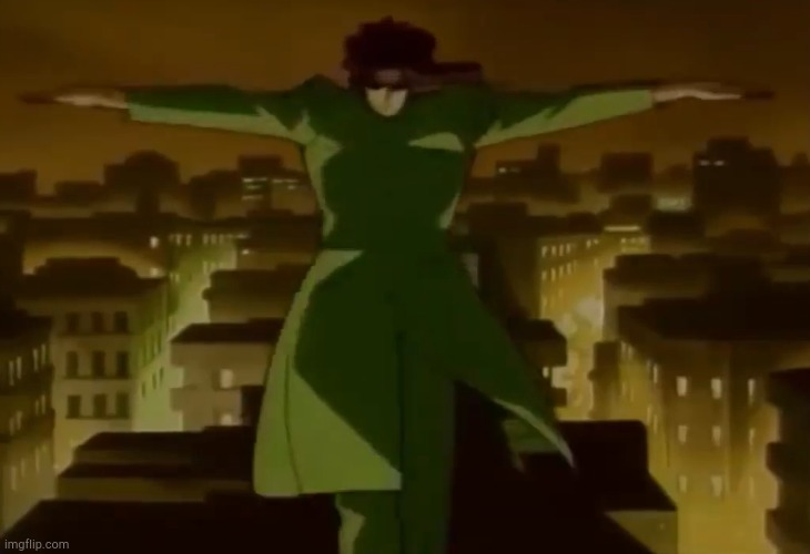 ? | image tagged in t-pose kakyoin | made w/ Imgflip meme maker