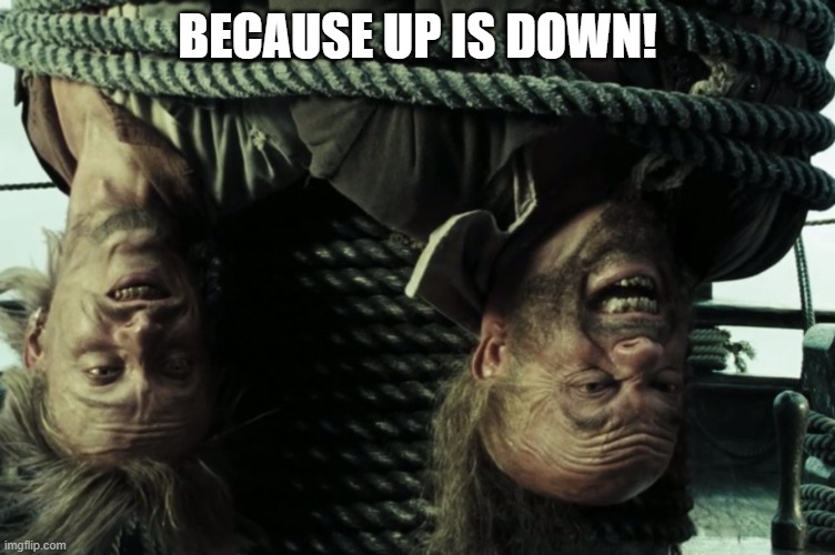 BECAUSE UP IS DOWN! | made w/ Imgflip meme maker