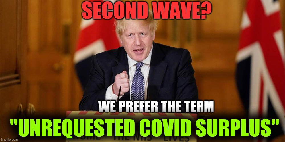 "Second Wave Buzzword |  SECOND WAVE? WE PREFER THE TERM; ""UNREQUESTED COVID SURPLUS"" 