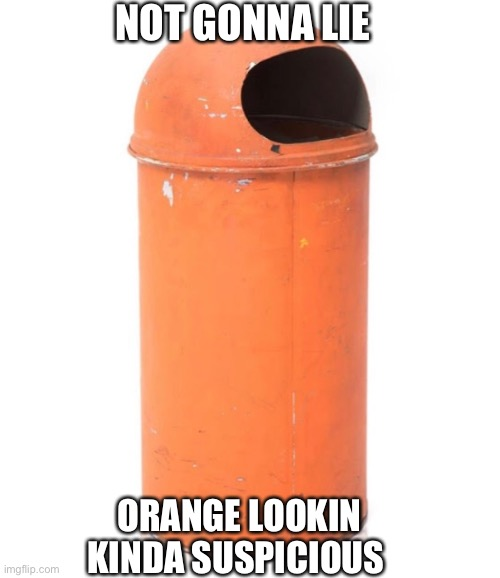 Orange kinda sus |  NOT GONNA LIE; ORANGE LOOKIN KINDA SUSPICIOUS | image tagged in meme,funny,among us,trash | made w/ Imgflip meme maker