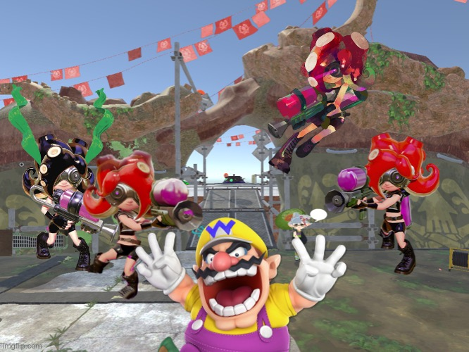 Wario dies in Octo Canyon after touching an octoling's butt.mp3 | image tagged in wario dies,wario,octoling,splatoon,memes | made w/ Imgflip meme maker