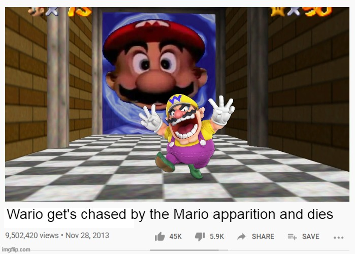 You want fun? Mario show you fun | image tagged in wario dies,wario apparition,mario,memes | made w/ Imgflip meme maker
