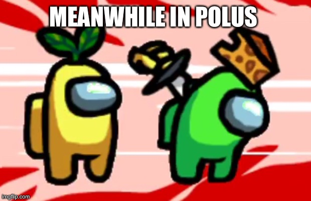 Among Us Stab | MEANWHILE IN POLUS | image tagged in among us stab | made w/ Imgflip meme maker
