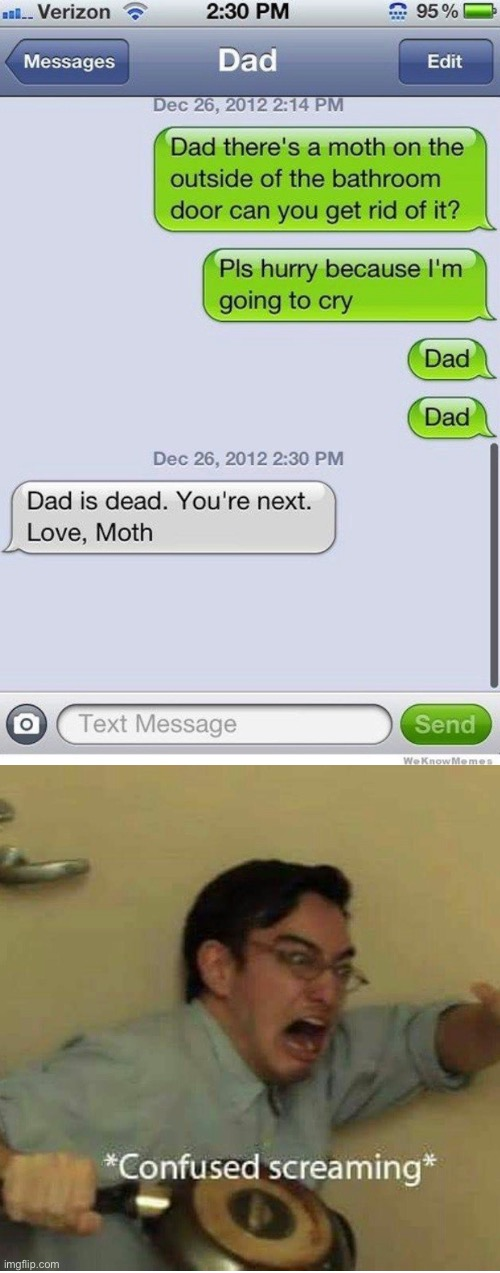 Love, moth | image tagged in confused screaming,funny,memes,funny memes,moth,texting | made w/ Imgflip meme maker
