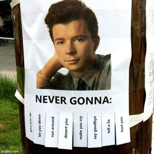 image tagged in rick astley,rickroll,never gonna give you up | made w/ Imgflip meme maker